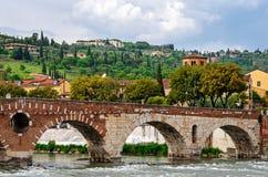 Verona (Italy), Ponte Pietra Royalty Free Stock Images