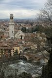 Verona Italy Ponte Pietra royalty free stock photography