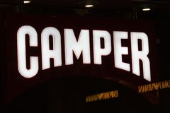 Camper store sign royalty free stock images
