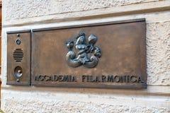 Accademia Filarmonica of Verona, Italy royalty free stock image