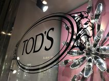 Tod`s shoe store stock image