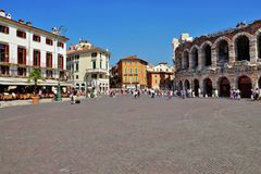 VERONA, ITALY-3 of SEPTEMBER. the world famous building of an am Royalty Free Stock Photo