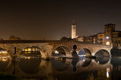 Verona , Italy , stone bridge , the old castle , Panoramic view Stock Image