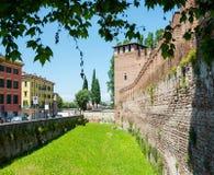 Verona, Italy. View of the castle Castelvecchio is a castle in Verona, northern Italy. Verona, Italy. View of the castle Castelvecchio Italian: `Old Castle` is a stock photos