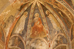 Verona - Jesus the Teacher fresco - church San Fermo Maggiore Royalty Free Stock Photography
