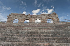 Verona juli 2011: Arena van Verona, oude Romein amphitheatre Italië Stock Fotografie