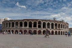 Verona juli 2011, forntida roman amfiteater italy Fotografering för Bildbyråer