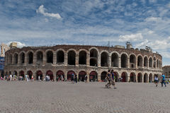 Verona july 2011, ancient roman amphitheatre. Italy Stock Image