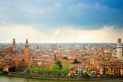 Verona landscape, S. Anastasia and S.Giovanni Royalty Free Stock Images