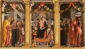 Verona - Maesta della Virgine  in basilica di San Zeno Royalty Free Stock Images