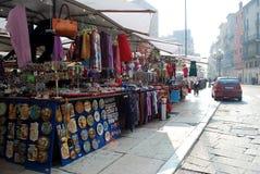 Verona market. In the morning in Italy stock photography