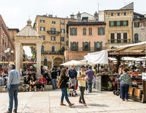 Verona Market Square Photographie stock