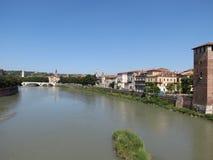Verona - medeltida slott Royaltyfri Bild