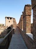 Verona - medeltida slott Arkivbild