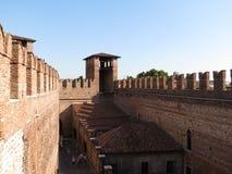 Verona - medeltida slott Arkivfoto
