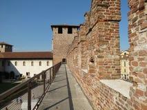Verona - medeltida slott Fotografering för Bildbyråer