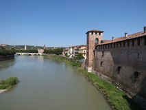 Verona - medieval castle Stock Images