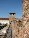 Verona - middeleeuws kasteel Royalty-vrije Stock Afbeeldingen