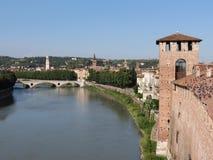 Verona - middeleeuws kasteel Stock Afbeelding