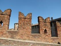 Verona - mittelalterliches Schloss Stockfotografie