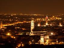 Verona-Nachtansicht Lizenzfreies Stockbild