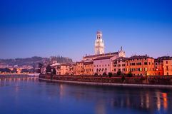 Verona nachts Stockbild