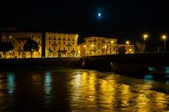 Verona nattfoto fotografering för bildbyråer