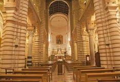 Verona - Nave of romanesque church San Lorenzo Stock Photo
