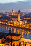 Verona at night Royalty Free Stock Photo