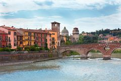 Free Verona Old Town View Stock Images - 19225694