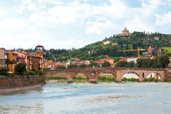Verona old town view Royalty Free Stock Photography