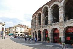 Verona opery arena - amphitheatre w Verona, Włochy Zdjęcie Stock