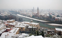 Verona  - Outlook from Castel san Pietro in winter Royalty Free Stock Image