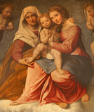 Verona - Paint of Madonna with the child and st. Ann. By Francesco Caroto from year 1528 from church San Fermo Maggiore on January 28, 2013 in Verona, Italy Royalty Free Stock Photo
