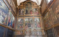 Verona - Paints from Jesus Life from different authors. Avanzi Chapel. In San Bernardino church on January 27, 2013 in Verona, Italy Royalty Free Stock Photography
