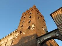 Verona - Palazzo del Comune. Aka Palazzo della Ragione aka Palazzo del Mercato Vecchio Royalty Free Stock Photo