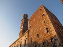 Verona - Palazzo del Comune Fotografia Stock Libera da Diritti