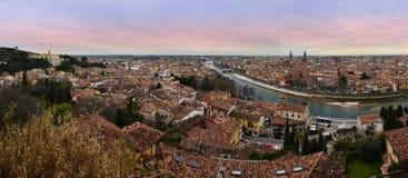 Verona panoramisch Lizenzfreies Stockbild