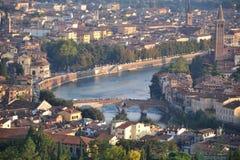 Verona pejzaż miejski, Włochy obraz stock