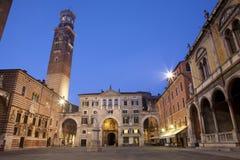 Verona - Piazza dei Signori and Lamberti towe Royalty Free Stock Images