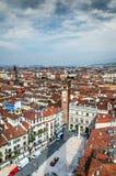 Verona, Piazza delle Erbe Stock Foto's