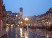 Free Verona - Piazza Erbe In Rainly Dusk And Porta Leona And Palazzo Maffei Royalty Free Stock Photography - 29097057
