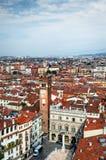 Verona piazzadelle Erbe Fotografering för Bildbyråer