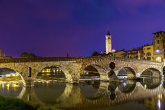 Verona Ponte Pietra Fotografia Stock Libera da Diritti