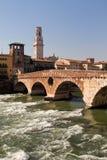 Verona, Ponte Pietra bridge Royalty Free Stock Photo