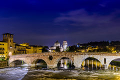 Verona Ponte Pietra Royalty Free Stock Photo