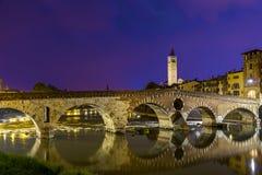 Verona Ponte Pietra Royalty Free Stock Photography