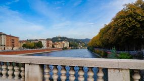 Verona Ponte Scaligere royalty-vrije stock afbeeldingen