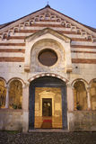 Verona - Portal and atrium of Chiesa di Santissima Trinita Stock Photography