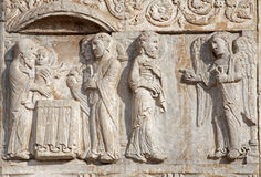 Verona - Presentation of Jesus in the Temple on Basilica San Zeno Royalty Free Stock Photos